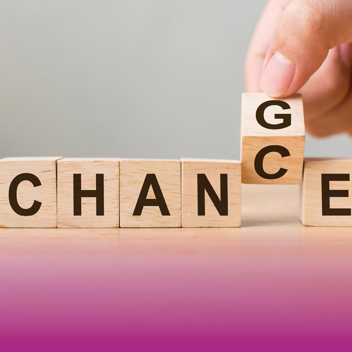 Image of word change/change