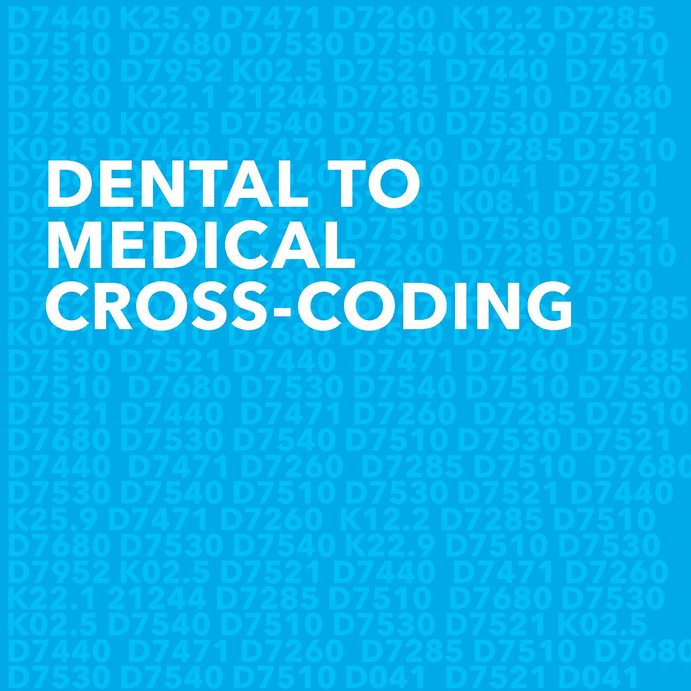 Medical to Dental Cross Coding Image